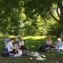 Drawing in the shade on Whiteleaf Hill.J