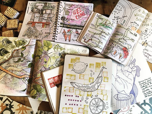 Adventures in Art Journaling Course Sat 9th, 16th, 23rd, 30th Jan 2021 2-4pm UK