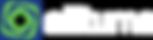 vector allturna logo Horizontal white le