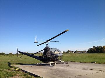 midnight black helicopter hiller frame