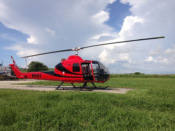 Crop Dusting UH 12 Commercial Helicopter