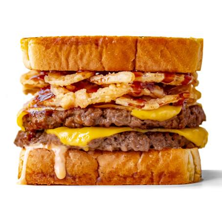 Vegan Texas Toast Garlic Bread Double Cheeseburger