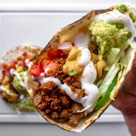 Vegan 8 Layer Dip Tacos
