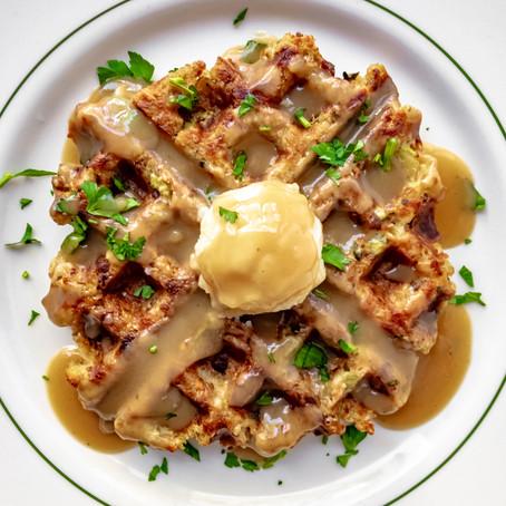Vegan Stuffing Waffles