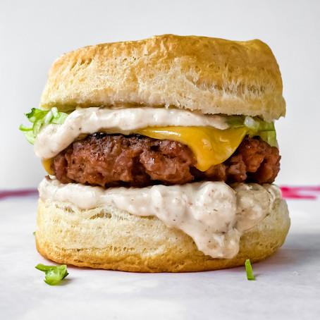 Vegan Biscuit n' Gravy Sandwich