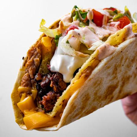 Vegan Cheesy Double Decker Taco