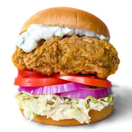 Fried Chick'n Shawarma Sandwich