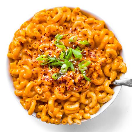 Vegan Kimchi Mac & Cheese