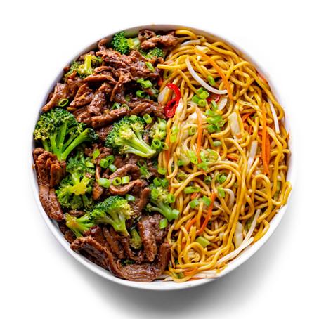 Vegan Broccoli Beef Chow Mein