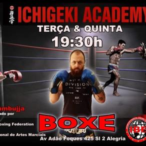 Boxe com o professor Rafael Azambuja