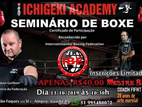 Seminário de Boxe na Ichigeki Academy 13/10/2019