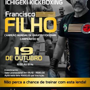 Seminário de Ichigeki Kickboxing com Shihan Francisco Filho