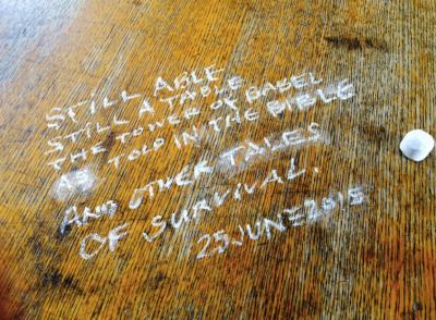 Kathy's table-top manifesto