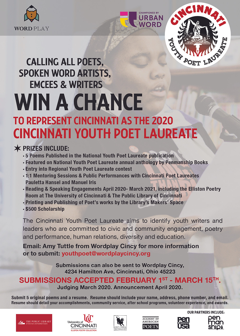 CALING ALL YOUNG POETS (14 TO 17 YEARS OLD)