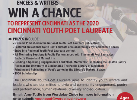 Youth Poet Laureate's submission deadline extended.