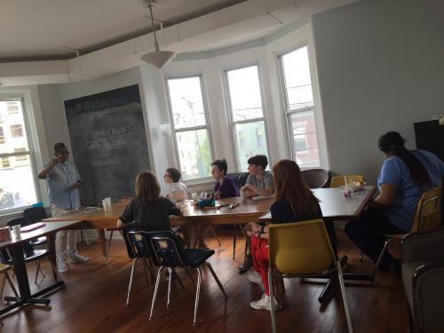WordUp creative writing workshop with guest teaching artist Kathy Y. Wilson