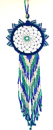 Blue, White Sun Catcher