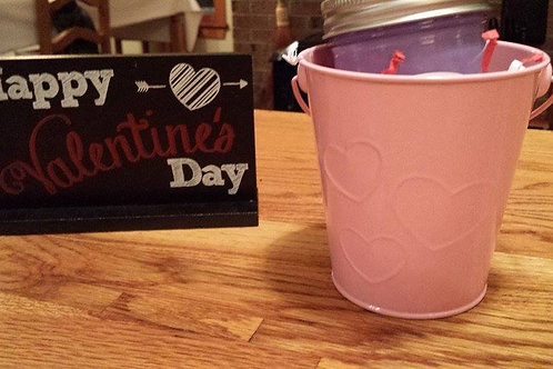 Heart-embossed Bucket and Candle