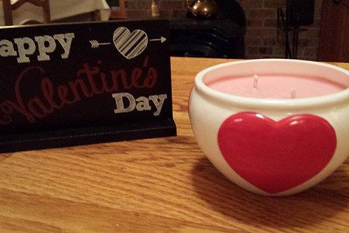 Ceramic Dish with Hearts
