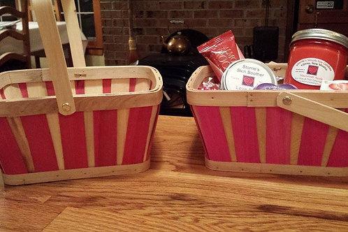 Wooden Slat Basket