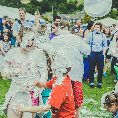 Mr Darcy Custard Pie Fight = Bakewell Baking Festival