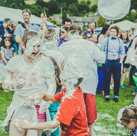 Mr Darcy Custard Pie Fight = Bakewell Baking Festival