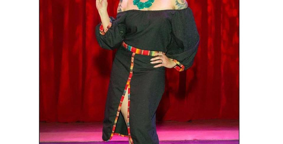Senorita Fitted Dress - Black