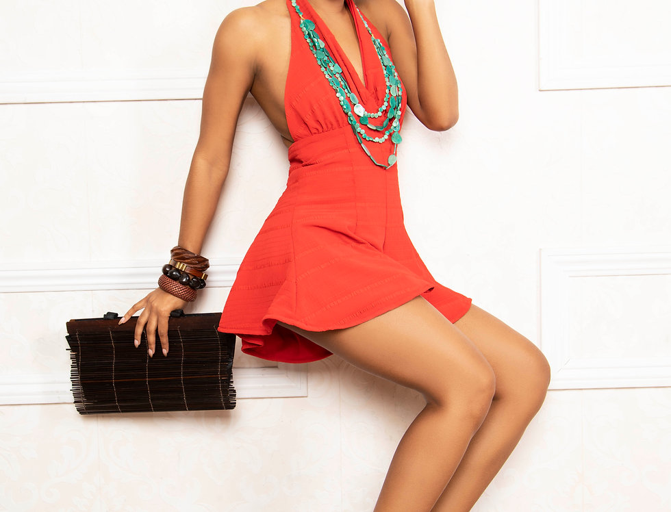 MARILYN PLAYSUIT - RED