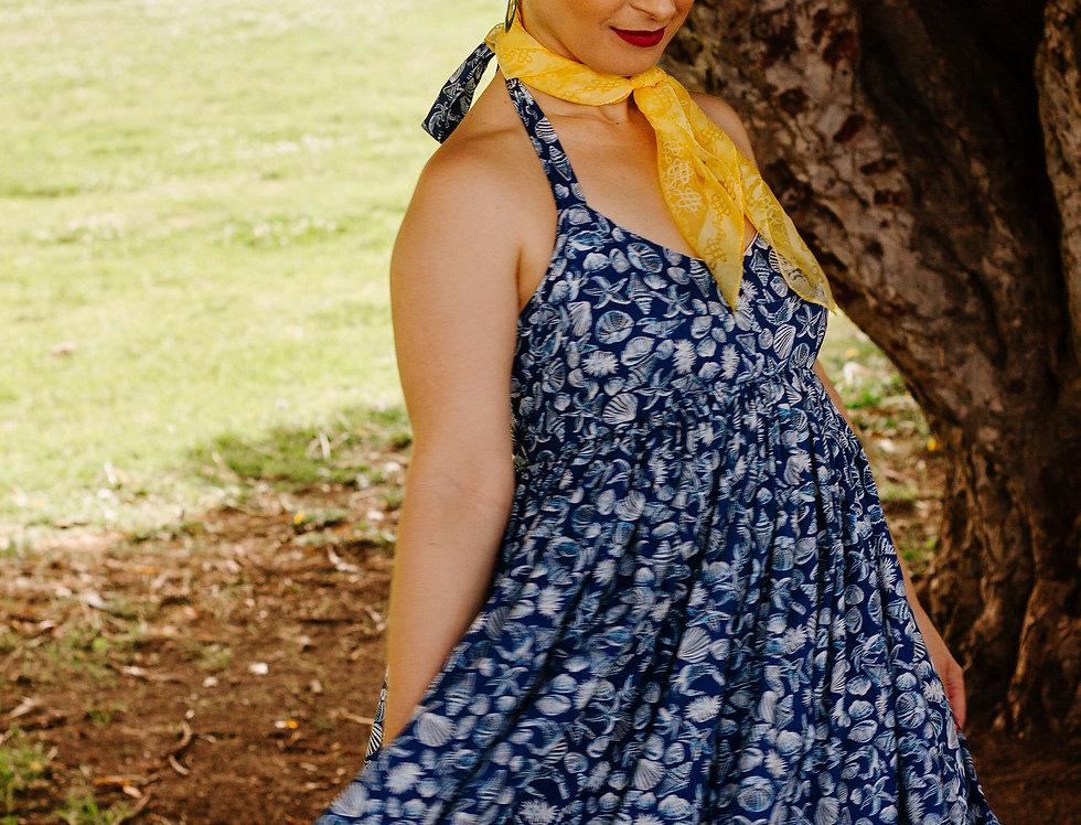 MOSELLE DRESS-BLUE