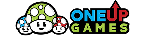One Up Games Logo. Massachusetts newest video game center and birthday party place!