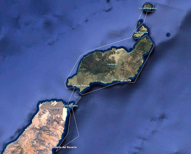 Lanzarote, Graciosa, Fuerteventura, Hochsee, segeln