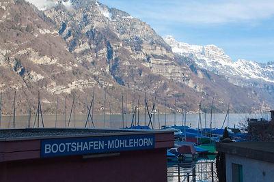 Bootshafen Mühlehorn segelschule walensee