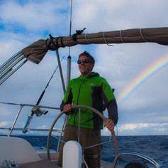 Regenbogen segeln
