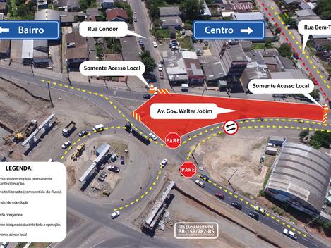 Travessia Urbana de Santa Maria: DNIT/RS modifica acesso ao trevo da BR -158/RS, para execução de se