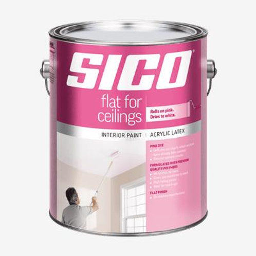 Sico Ceilings White Gallon Paint with Pink Dye