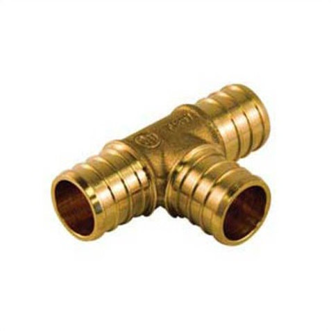 "PEX FITTING BRASS TEE 1/2"" (PACK 25) LEAD FREE"