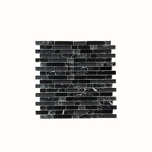 Smokey Black Strips Mosaic