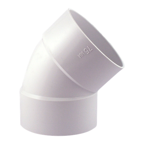 "4""X45D PVC ELBOW HXH"