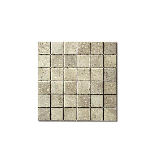 """Silver Stone Grey Mosaic 2""""X2"""""""
