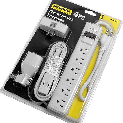 Power Set 4Pc Tap/Bar/Cord/Lit