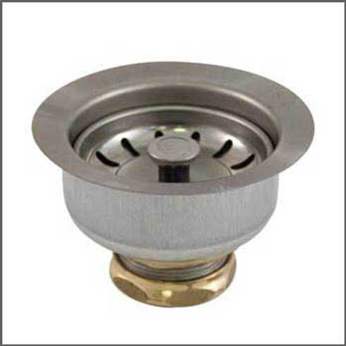 SINK STRAINER 4-1/2 SS W/TAILPIECE 2-STEP STEM