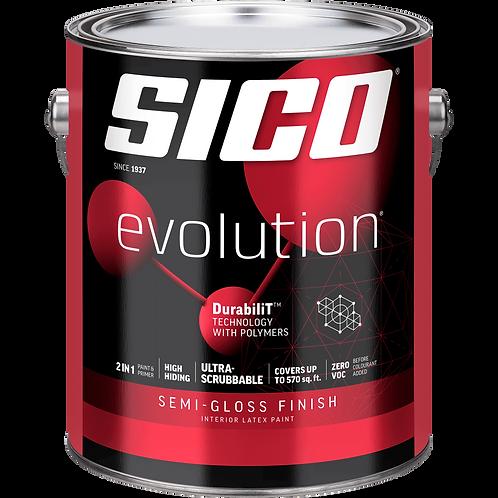 Sico Evolution Semi-Gloss Pure White Gallon Paint