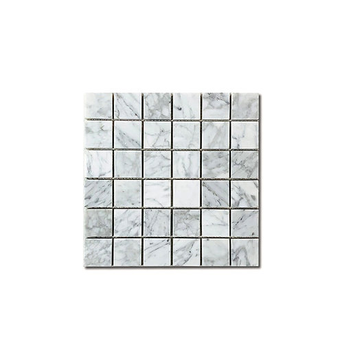 "Bianco Carrara Mosaic 2""x2"""