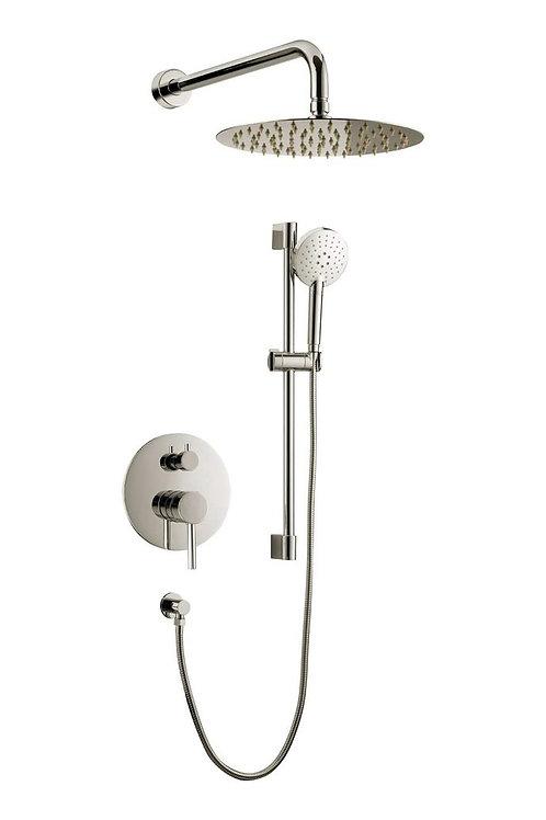 (BRUSHED NICKEL) SLEEK Concealed Pressure Balanced Shower System