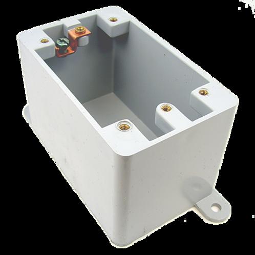 PVC FD blank single gang box