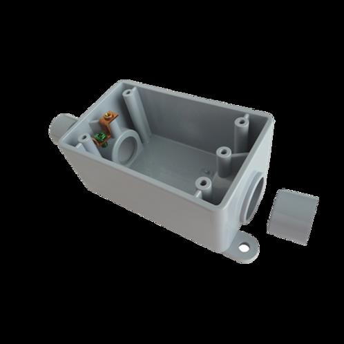 Grey FSC 1Gang Box PVC