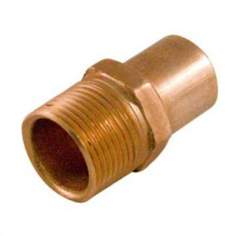 """FITTING COPPER MALE ADAPTER 1/2"""" FTG x M"""