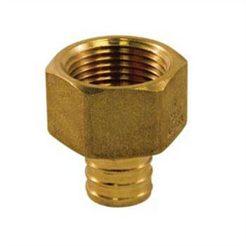 """PEX FITTING BRASS FEMALE ADAPTER 1/2"""" UPC-A LEAD FREE"""