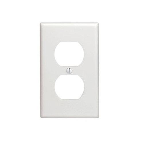 WHITE WALLPLATE 1GANG DUPLEX W/CAPTIV