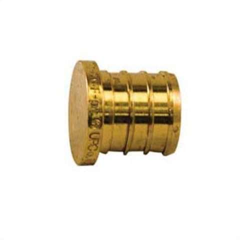 PEX FITTING BRASS PLUG 1/2 (PACK 25) LEAD FREE